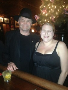 Our own Abbey standing with Mickey Dolenz at our 1 Sept. 2014 show.