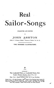 Real Sailor's Songs