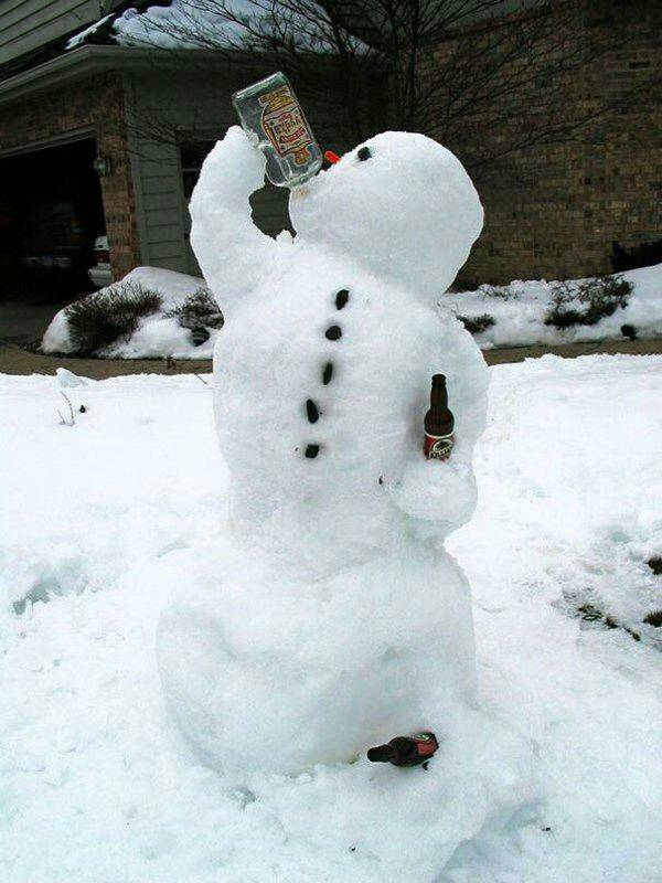 drinking snowman